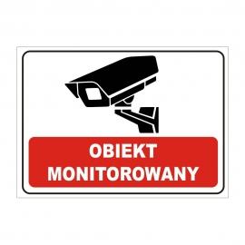 Znak 19 Teren monitorowany 25x35 PB