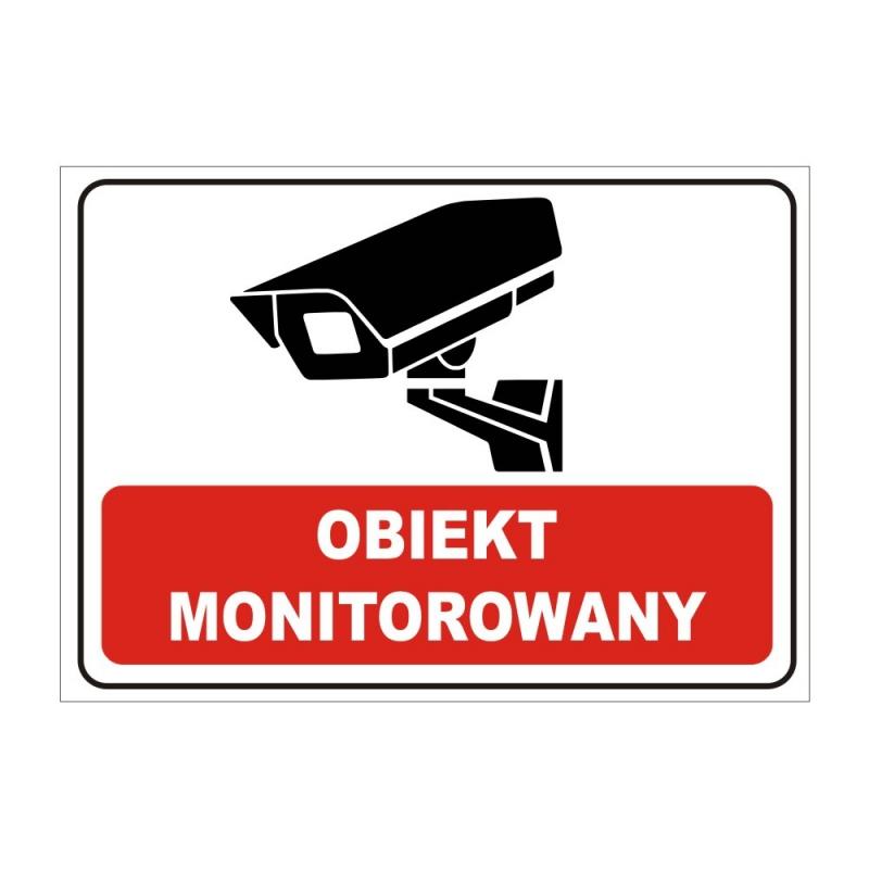 Znak Teren monitorowany 25x35 PB