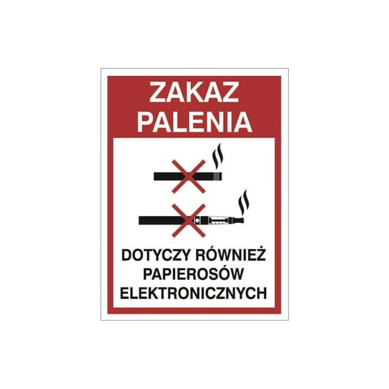 Znak Zakaz palenia e-papierosów i papierosów 150x200 PB