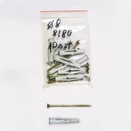 Kołki rozporowe fi8 8/80 - 10 sztuk