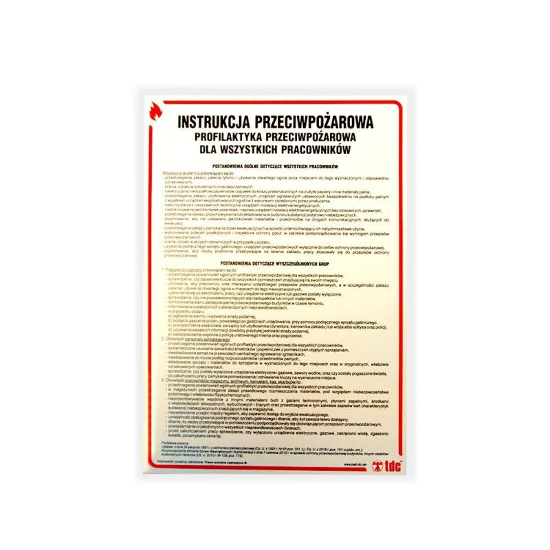Instrukcja PPOŻ profilaktyka