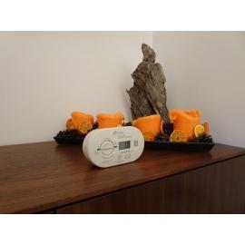 Zestaw czujka czadu LCD KIDDE 5DCO + spray gaśniczy pianowy SAFE 750ml