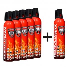 Spray gaśniczy REINOLDMAX 750ml Zestaw 5 + 1 GRATIS