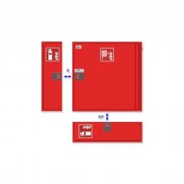Szafka na gaśnice SG780 bez okna SLIM GRAS czerwona