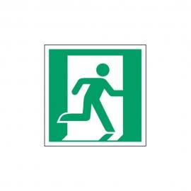Znak LEVI E02 Wyjście ewakuacyjne (prawo) E002 150x150 PF