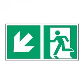 Znak LEVI Kierunek do wyjścia ewakuacyjnego E01-LD 300x150 PF