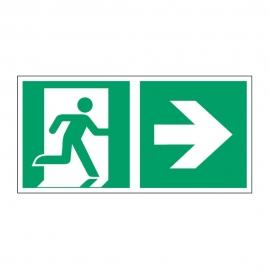 Znak LEVI Kierunek do wyjścia ewakuacyjnego E02-PP 300x150 PF