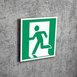 Znak LEVI E01 Wyjście ewakuacyjne (lewo) E001 150x150 PF