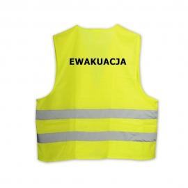 Kamizelka odblaskowa z nadrukiem EWAKUACJA