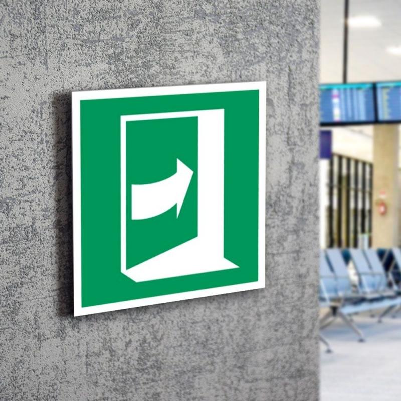Znak LEVI E23 Pchać z prawej aby otworzyć E023 150x150 PF