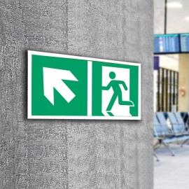 Znak LEVI Kierunek do wyjścia ewakuacyjnego E01-LG 300x150 PF