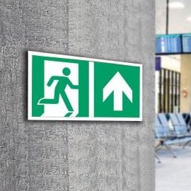 Znak LEVI Kierunek do wyjścia ewakuacyjnego E02-GG 300x150 PF