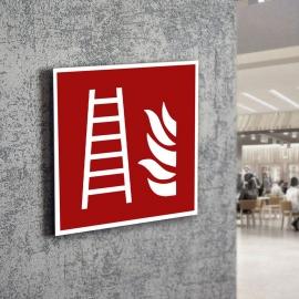 Znak LEVI F03 Drabina pożarowa 150x150 PF