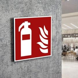 Znak LEVI F01 Gaśnica F001 ISO7010
