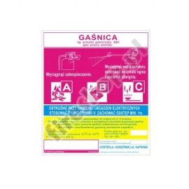 Etykieta gaśnicy GS- 5x BC WS/KZ