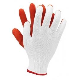 Rękawice baweł-poliestr.powl.lateksem DRAGO 9,10