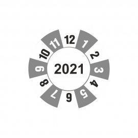 """Etykieta """"kółko z datą 2021"""" folia"""