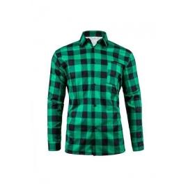 Koszula flanelowa krata ZIELONO-CZARNA