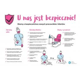 Znak Bezpieczne salony kosmetyczne - plik PDF
