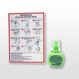 Uchwyt na dozownik do dezynfekcji rąk