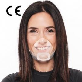 Transparentne osłonki na usta i nos MOUTH SHIELD rozmiar S/M