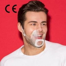 Transparentne osłonki na usta i nos MOUTH SHIELD rozmiar L/XL