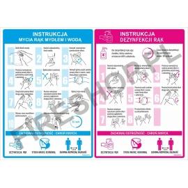 Instrukcja COVID mycia i dezynfekcji rąk A4 lam