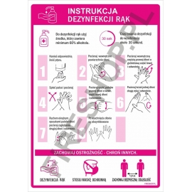 Instrukcja COVID dezynfekcji rąk mydłem Lam
