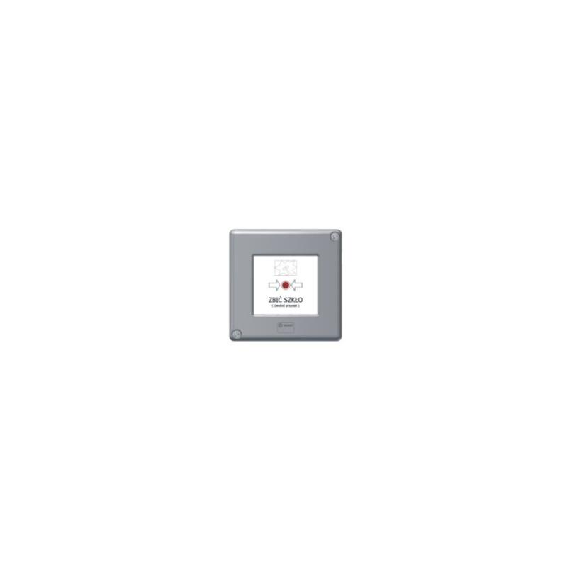 Przycisk blokowany szary W0-PB-D0 XY R