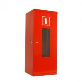 Szafka na gaśnice SG750 z oknem /M czerwona 3000