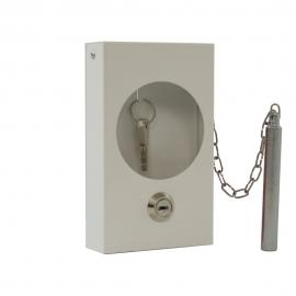 Szafka na klucz SKL- M + zbijak biała
