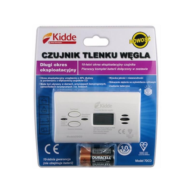 Czujka - czujnik czadu tlenku węgla LCD KIDDE 7DCO