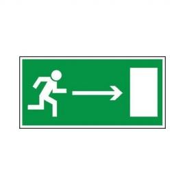Znak 11 Kierunek do wyjścia ewakuacyjnego w prawo