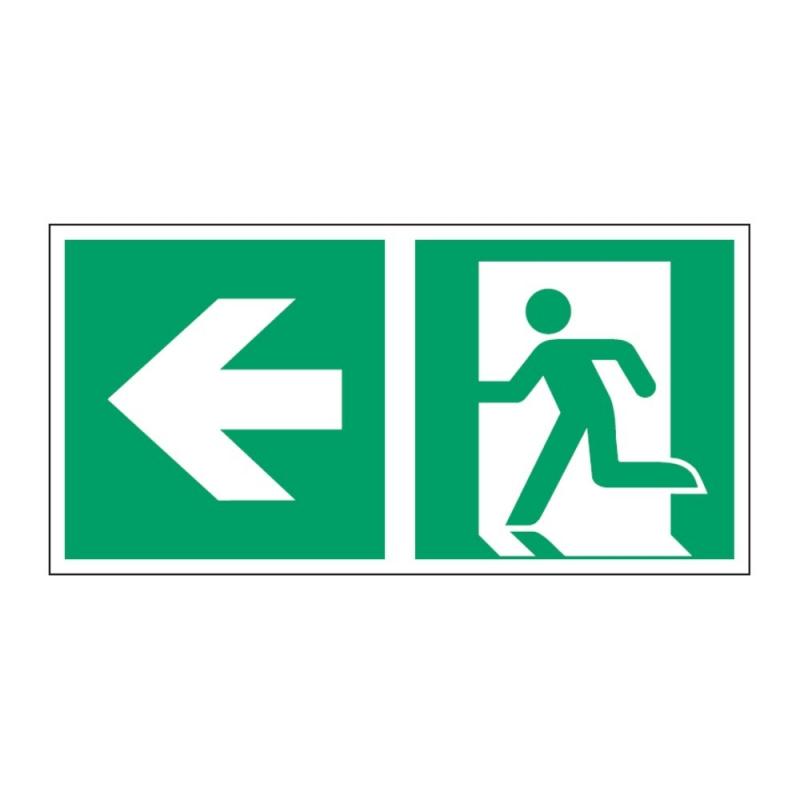 Znak Kierunek do wyjścia ewakuacyjnego E01-LL