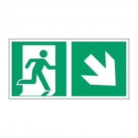 Znak Kierunek do wyjścia ewakuacyjnego E02-PD
