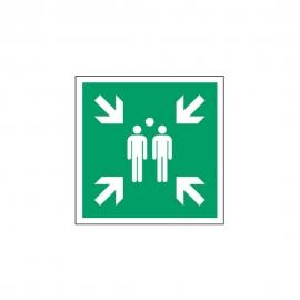 Znak E007 Miejsce zbiórki do ewakuacji E07