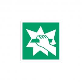 Znak E008 Stłuc, aby uzyskać dostęp E08