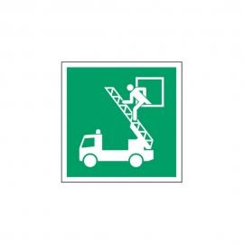 Znak E017 Okno ratunkowe E17