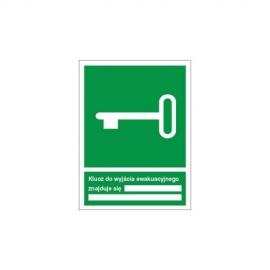 Znak 11 Klucz do wyjścia ewak znajduje sie w 150x200PF