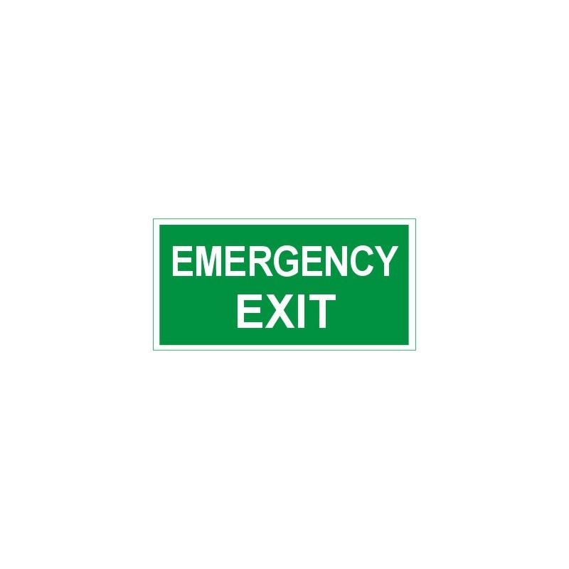 Znak 11 Emergency Exit 400x200 PF