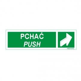 Znak Pchać / PUSH pasek 150x50 FB