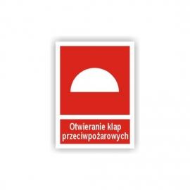 Znak Otwieranie klap ppoż. 150x200 PF