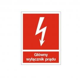 Znak 12 Główny wyłącznik prądu 150x200 FB