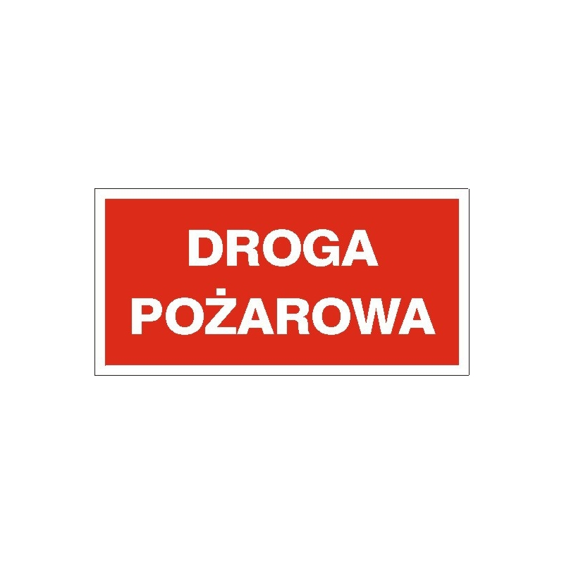 Znak Droga pożarowa 400x200 PB