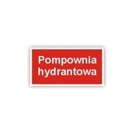 Znak Pompownia hydrantowa 400x200 PB