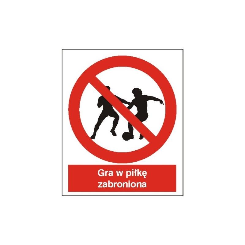Znak Zakaz gry w piłkę 225x275 PB