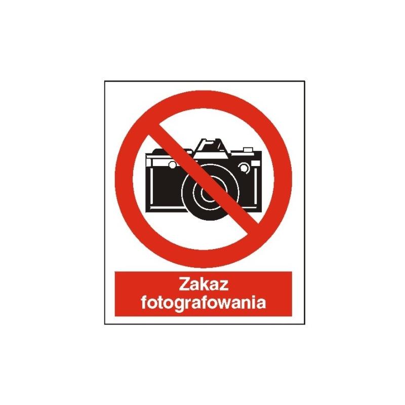 Znak Zakaz fotografowania 225x275 PB