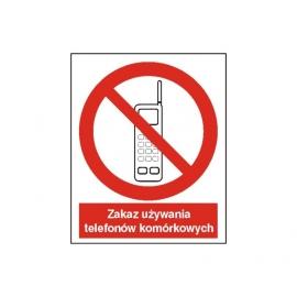 Znak Zakaz używania telefonów komórkowych 225x275 PB