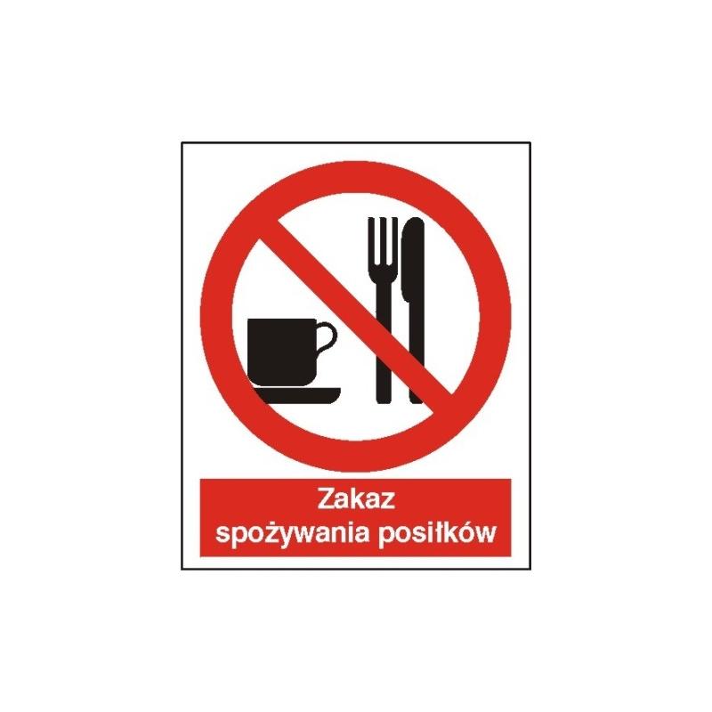 Znak Zakaz spożywania posiłków 225x275 PB