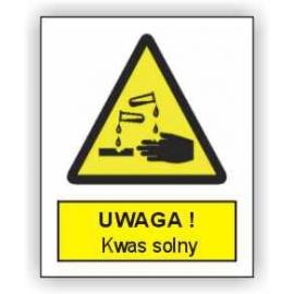 Znak Uwaga Kwas Solny 225x275 PB